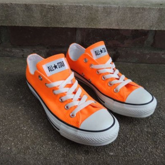 Converse Shoes - Never worn neon orange converse 16f032875a71